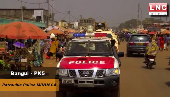 Centrafrique : Bangui (PK5), reprise des patrouilles mixtes MINUSCA-FSI. © DR