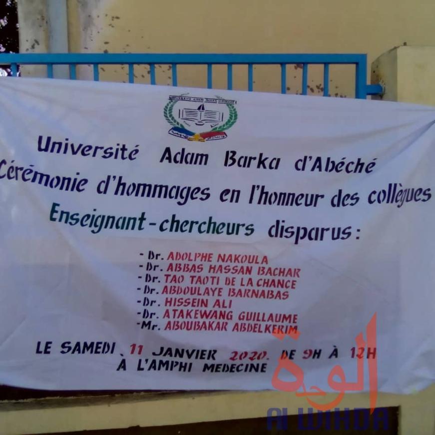 Tchad : l'Université Adam Barka rend hommage à ses enseignants-chercheurs décédés. © Alwihda Info/Abba Issa