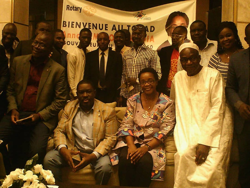 Tchad : la gouverneure du district 9150 du Rotary Club International à N'Djamena. © Mahamat Abdramane Ali Kitire/Alwihda Info