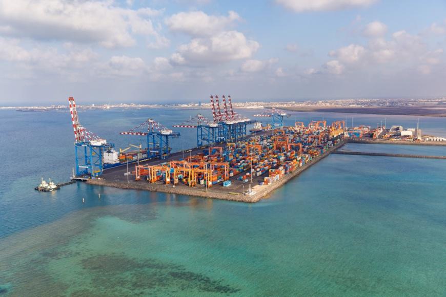 Le terminal à conteneurs de Doraleh, un hub commercial et logistique de premier plan entre l'Asie, l'Afrique et le reste du monde. © Présidence de Djibouti