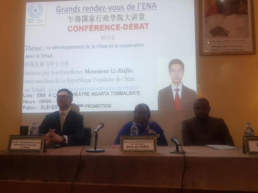 Tchad : l'ambassadeur de Chine au grand rendez-vous de l'ENA. © Sgg Tchad