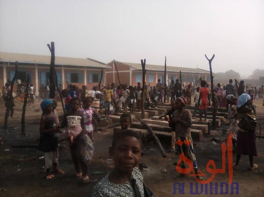 Tchad : un élève de 6 ans met le feu à sa salle de classe à Moundou. © Golmen Ali/Alwihda Info