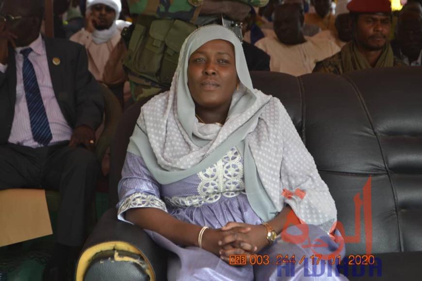 La directrice de la Société tchadienne des Eaux, Mme. Koubra Hissein Itno. © Alwihda Info