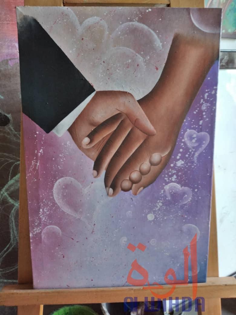 Tchad : Djimira, l'artiste peintre qui veut valoriser la discipline des beaux-arts