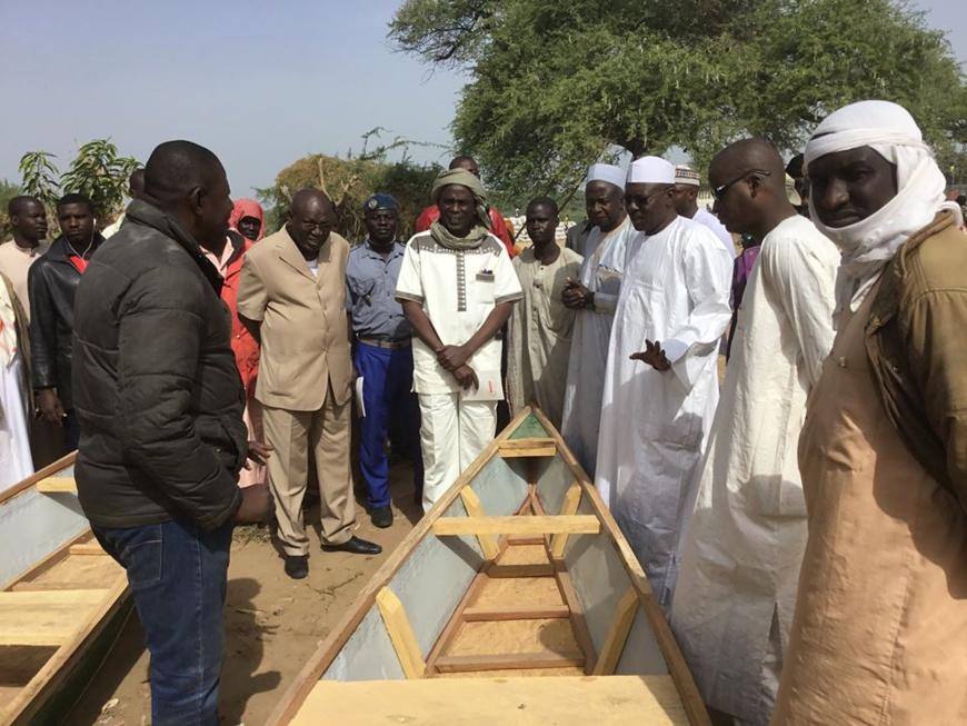 Tchad : 41 pirogues remises au ministère de la Santé. © DR/Min. Santé