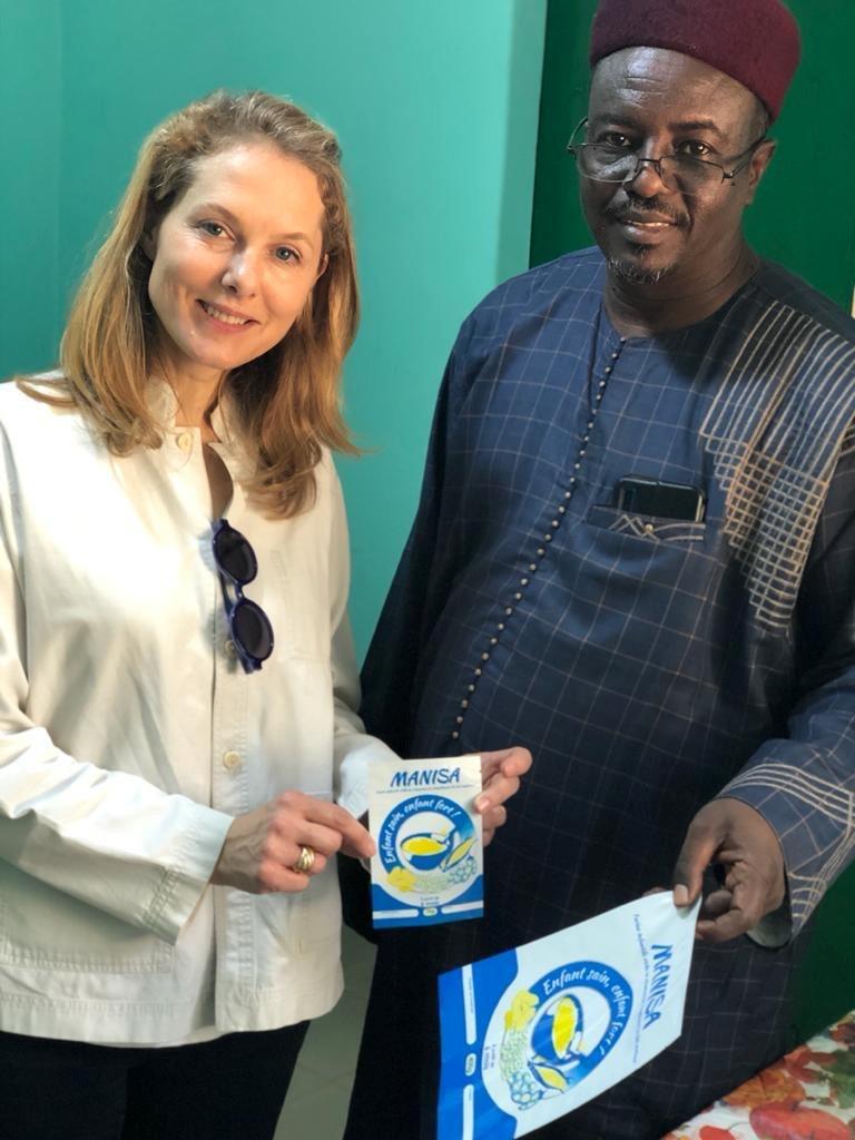 Tchad : la conseillère spéciale du PAM, la Princesse Sarah Zeid plaide en faveur de la nutrition. © : WFP/Maria Gallar – WFP/Noemi Renzetti – WFP/George Fominyen