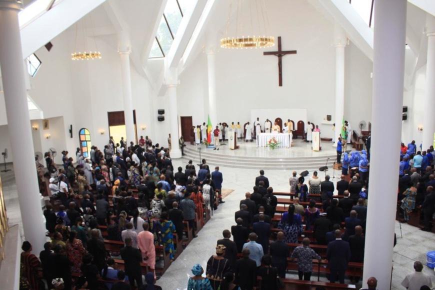 Une vue de la Messe d'action de grâces