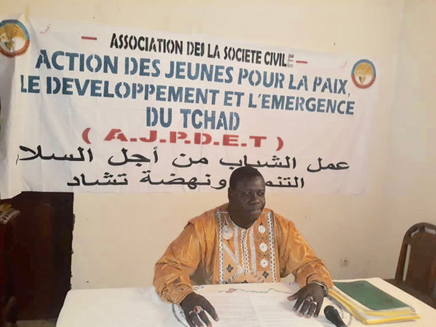 Le président de l'Action des Jeunes pour la Paix, le Développement et l'Emergence du Tchad (AJPDET), Mahamat El-Mahadi Abderamane. © Alwihda Info
