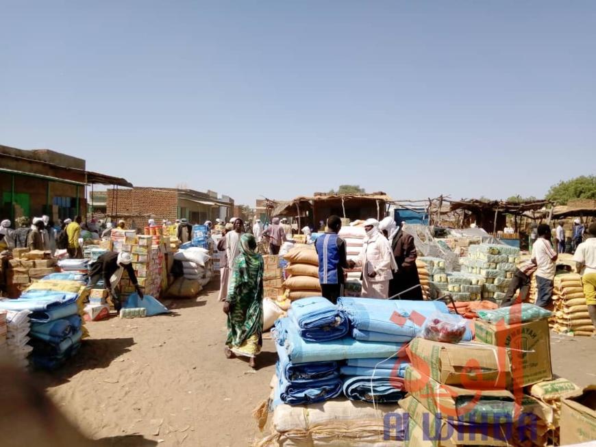 Le marché de Goz Beida, au Sila. ©Mahamat Issa Gadaya/Alwihda Info