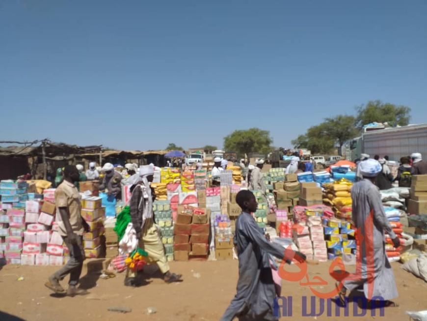 Le marché de Keri, à l'Est du Tchad, dans la province de Sila. © Mahamat Issa Gadaya/Alwihda Info