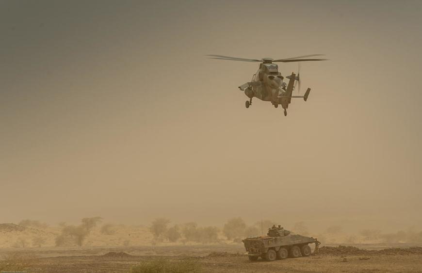 Un hélicoptère français. Illustration. © EMA (Archives Serval).