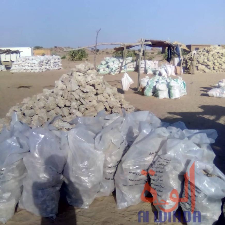 Tchad : le natron, une ressource naturelle transportée dans tout le pays. © Abba Issa/Alwihda Info