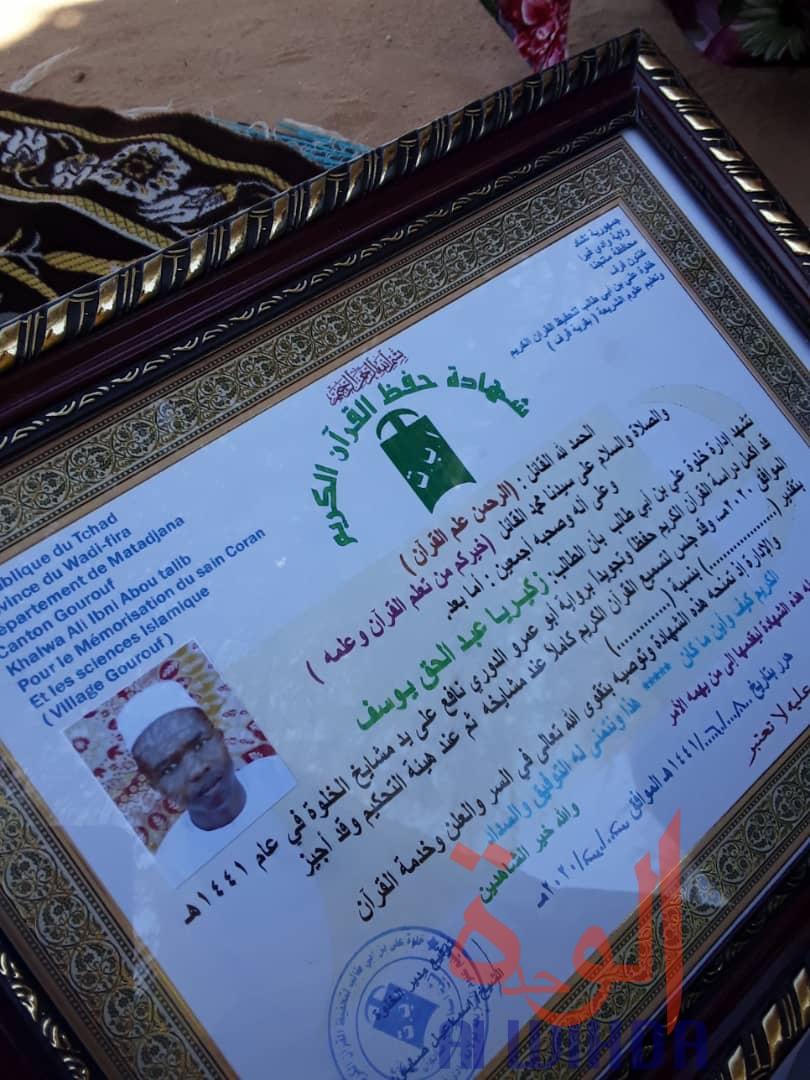 Tchad : 17 étudiants en sciences islamiques honorés au Wadi Fira. © Abdelhadi Moussa/Alwihda Info