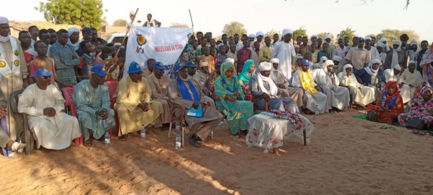 Tchad : au Sila, une délégation du MPS sensibilise ses militants pour les élections. © Mahamat Issa Gadaya/Alwihda Info