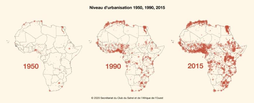 Comprendre la géographie urbaine de l'Afrique : une priorité pour le continent. © DR