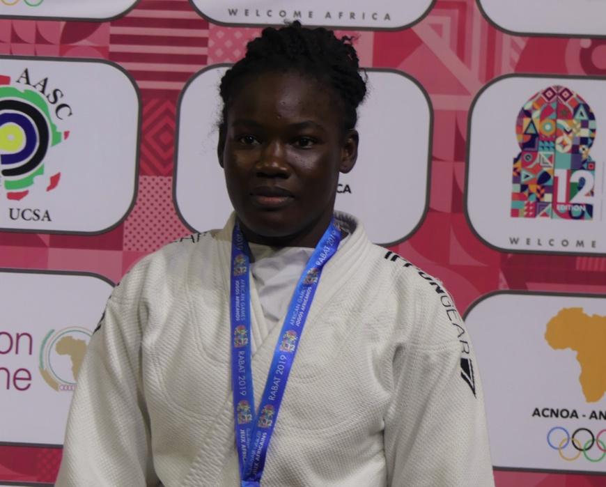Tchad : la judokate Memneloum Demos reçue par le ministre des Sports. © DR