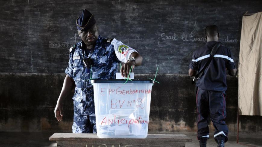 Les agents des forces d'ordre togolaises sont appelés aux urnes ce mardi 18 décembre (photo d'archives) AFP PHOTO / ISSOUF SANOGO