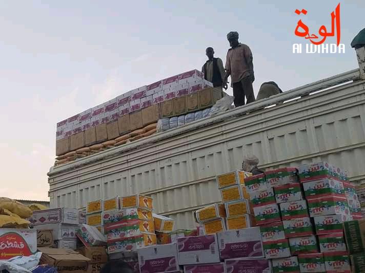 Un chargement de marchandises à Goz Beida. Illustration. © Mahamat Issa Gadaya/Alwihda Info