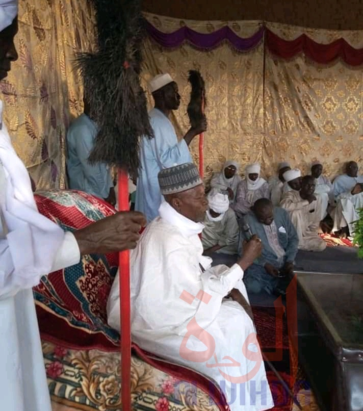 Sa Majesté Seïd Ibrahim Moustapha, sultan de Dar Sila. © Mahamat Issa Gadaya/Alwihda Info