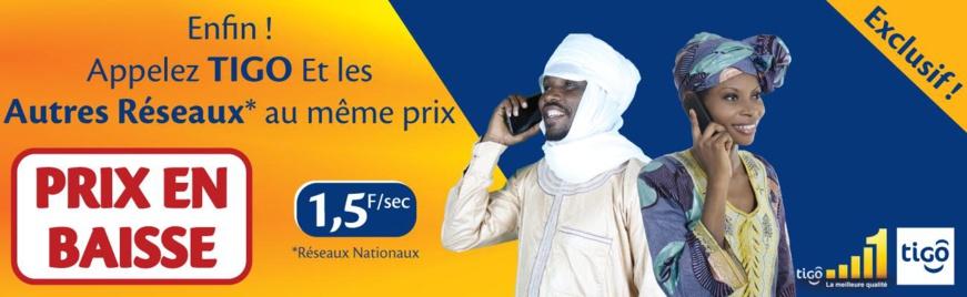 TIGO, le Réseau N° 1 baisse encore ses prix : Appelez tous les réseaux au même prix