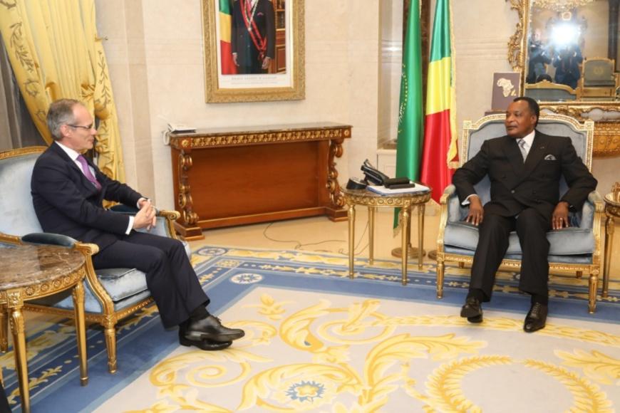 Denis Sassou N'Guesso et Nicolas Terrez