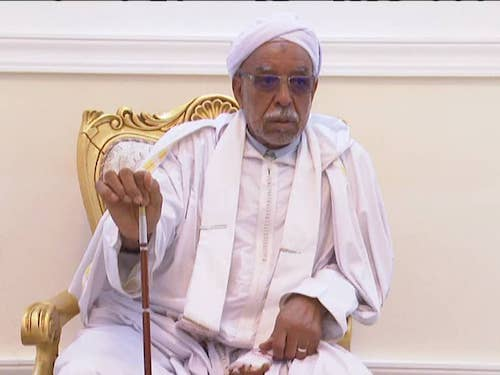 Visite du khalife général de la confrérie Tidjania, Cheikh Sidi Ali Bel-Arabi à Am Djarass, le 25 février 2020. ©Alwihda Info
