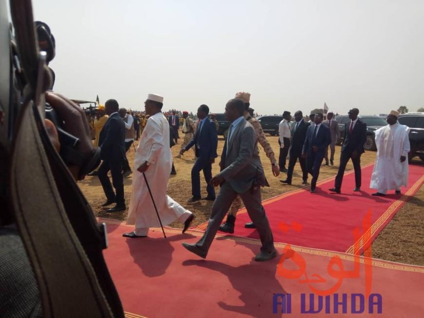 Le chef de l'Etat Idriss Déby et la délégation présidentielle à Bongor, le 27 février 2020. © Golmen Ali/Alwihda Info
