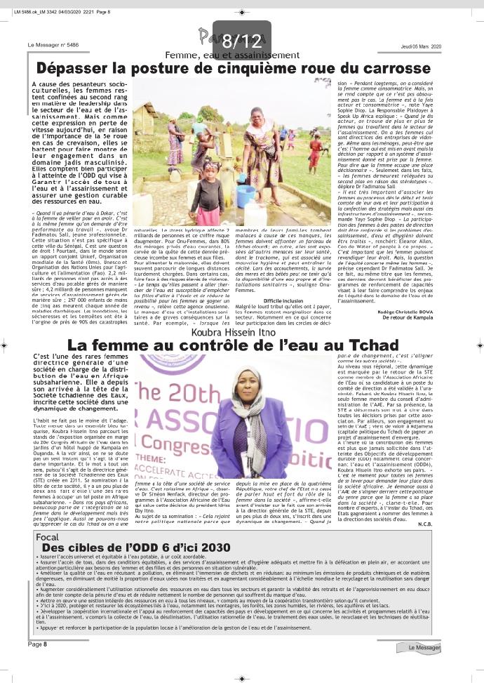 Tchad : La STE résolument engagée à décliner un plan de réformes des plus audacieux