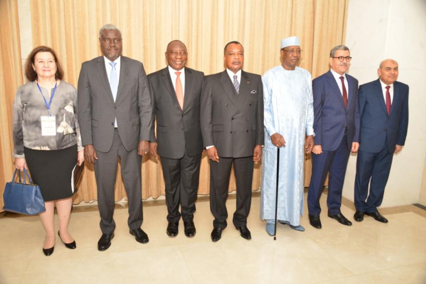 Le groupe de contact présent à Oyo.