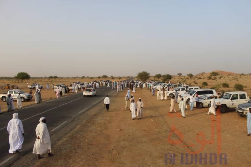 Tchad : la délégation de Ahmat Bachir à Abéché pour l'intronisation du sultan du Ouaddaï. © Alwihda Info