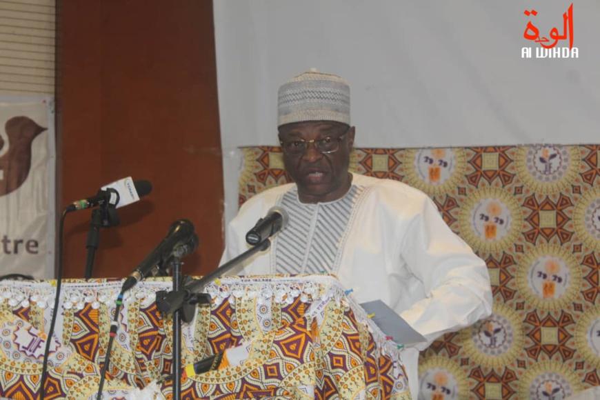 Le délégué général du Gouvernement auprès de la commune de N'Djamena, Mahamat Zene Alhadj Yaya. © Malick Mahamat/Alwihda Info