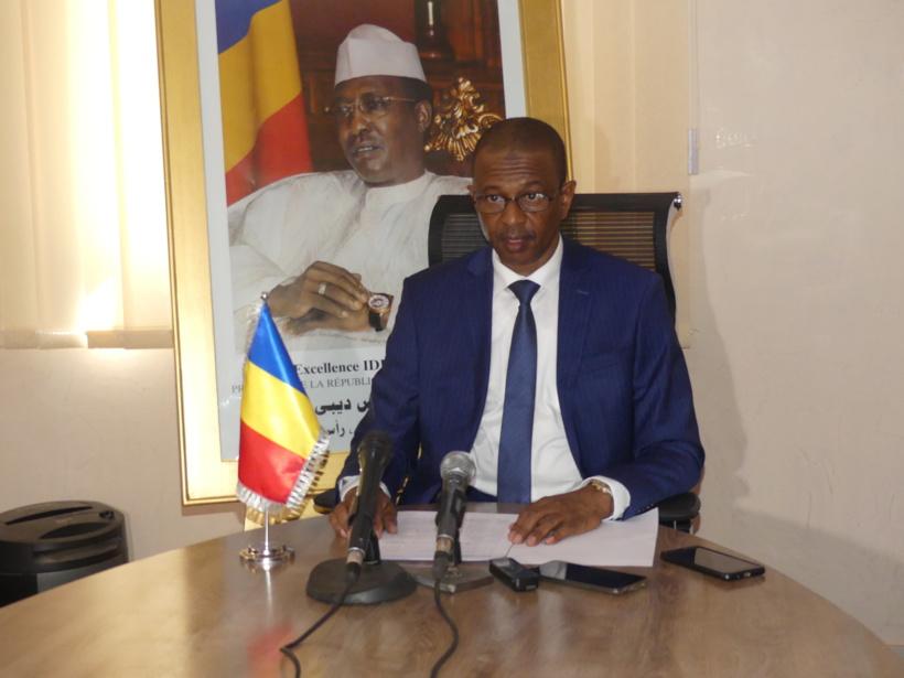 Le ministre de l'Environnement, de l'Eau et de la Pêche, Brahim Mahamat Djamaladine.