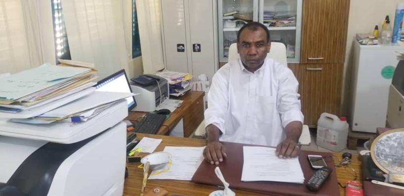 Dr. Brahim Mahamat Haggar, président de la commission d'éthique, de discipline, des conflits et des affaires juridiques, de l'Ordre de médecin du Tchad, par ailleurs directeur de l'hôpital de l'armée de l'air. © Alwihda Info