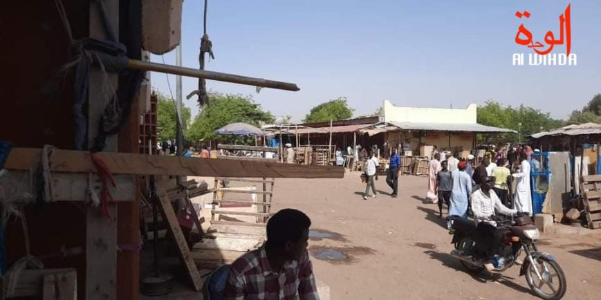 Le grand marché de N'Djamena, le 24 mars 2020. © I.A./Alwihda Info