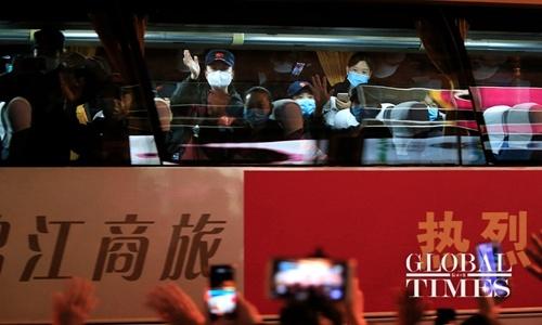 Medics sent to Wuhan return to Shanghai. Photo: Yang Hui from Global Times