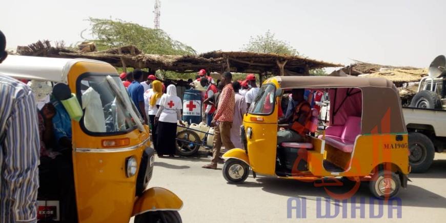 Tchad - Covid-19 : La Croix-rouge s'implique dans la sensibilisation. © Abba Issa/Alwihda Info