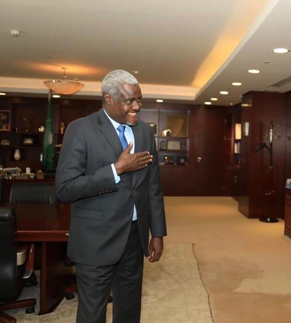 Le président de la commission de l'Union africaine, Moussa Faki Mahamat. © DR/Twitter/Moussa Faki