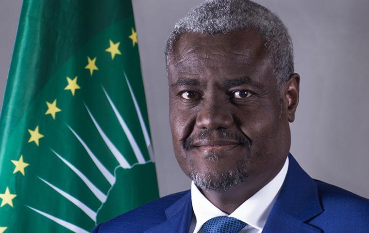 Le président de la commission de l'Union africaine, Moussa Faki Mahamat. © DR/UA