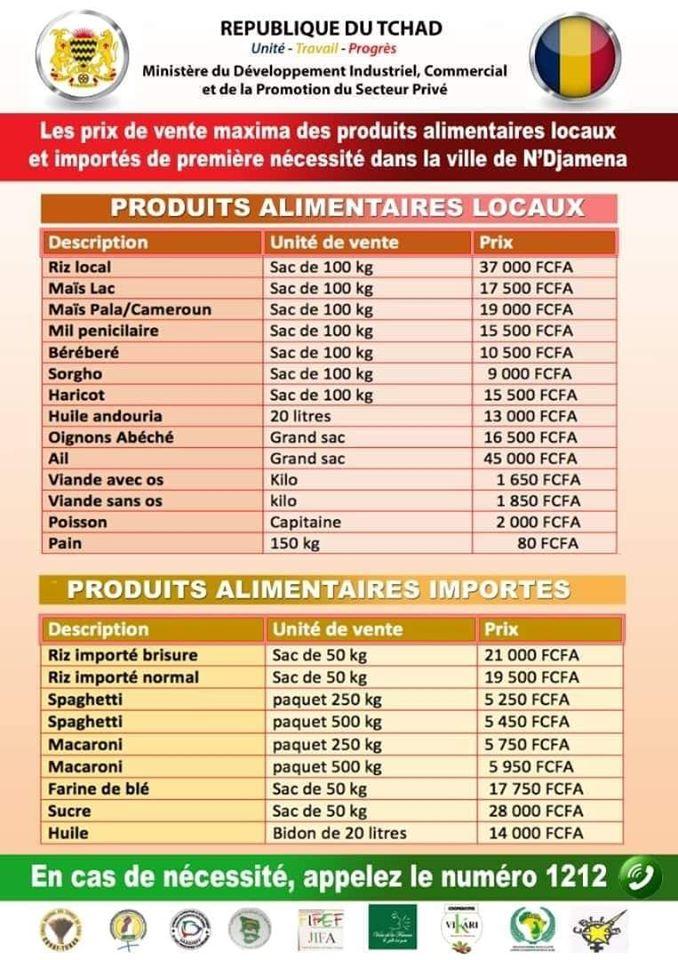 le ministère du commerce encadre les prix des aliments