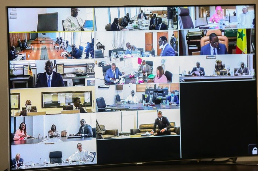 Sénégal - Covid-19 : un conseil des ministres en vidéoconférence. © DR/Macky Sall