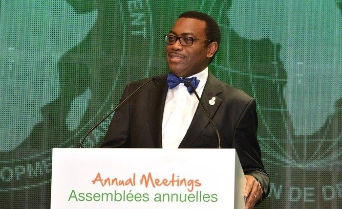 Le président de la Banque africaine de développement, Akinwumi Adesina. © DR