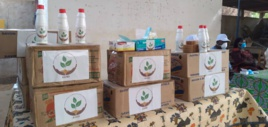 Tchad - Covid-19 : à N'Djamena, des produits d'hygiène offerts à des ménages. © Djibrine Haïdar/Alwihda Info