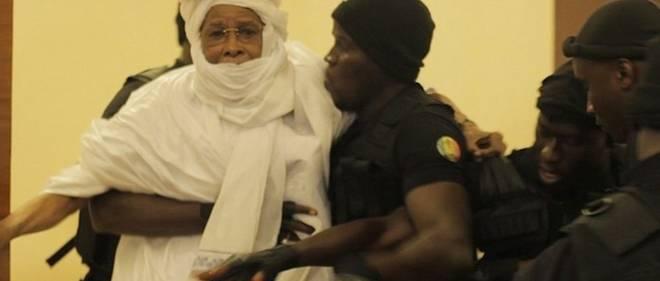 Hissein Habré lors de son jugement à Dakar. © DR
