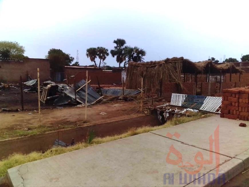 Tchad : de multiples dégâts à Moundou après une intempérie. © Golmen Ali
