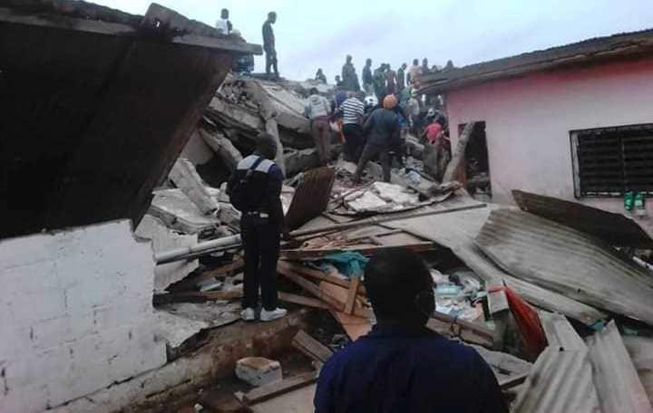 Cameroun/Drame : un immeuble s'effondre sur des personnes à Yaoundé