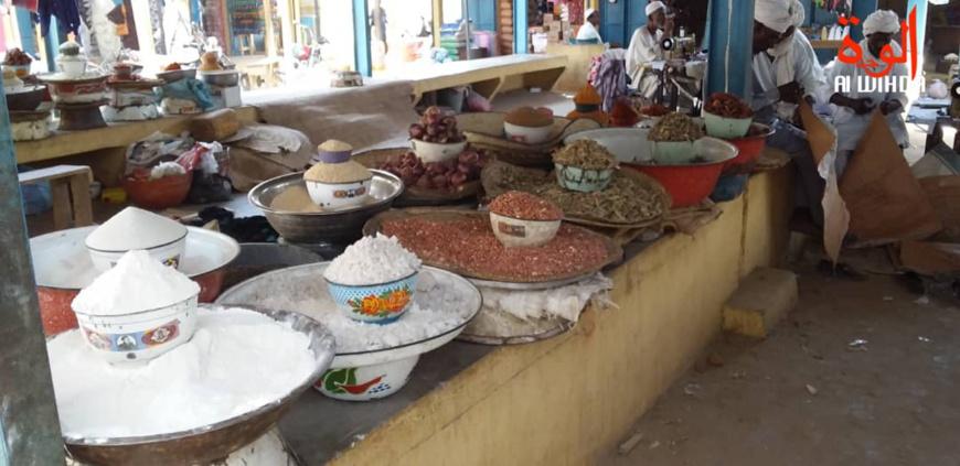 Un marché à Ati, au Tchad. © Hassan Djidda/Alwihda Info