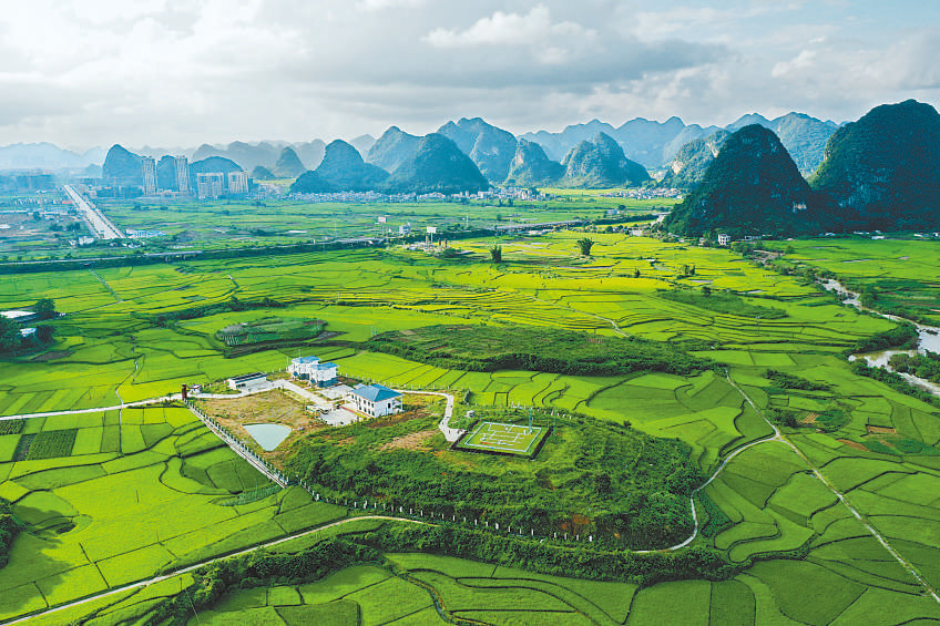 Photo shows the new site of the ground meteorological observation station of Jingxi, south China's Guangxi Zhuang Autonomous Region. (Photo/Gao Yujie)