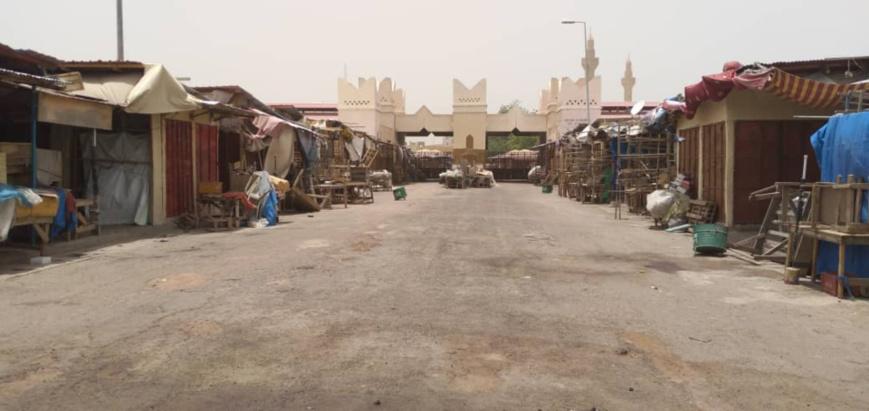 Une rue menant au grand marché de N'Djamena, au Tchad. © Djibrine Haïdar/Alwihda Info