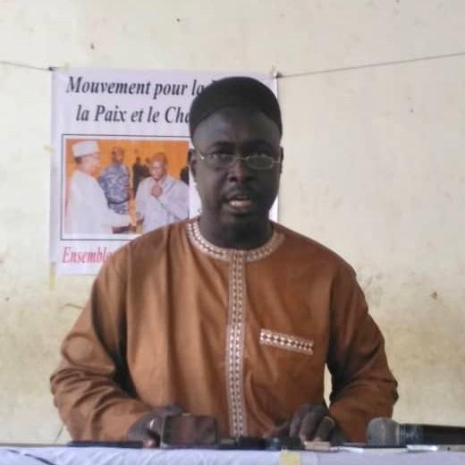 Le président du Mouvement pour la Liberté, la Paix et le Changement (MLPC), Oumarou Kaou Abdramane. © Malick Mahamat Tidjani/Alwihda Info