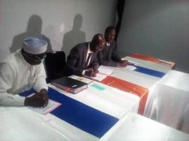 Signature d'un accord entre le gouvernement tchadien et la BID à N'Djamena, le 28 avril 2020. © Abakar Chérif Hamid/Alwihda Info